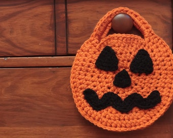 Crochet Pumpkin Pattern, Halloween Candy Bag, Crochet Bag Pattern-61