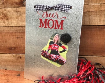 Cheer Mom - Magnetic Board - Magnet Picture Frame - Dry Erase Board - Magnetic Message Board - Magnetic Memo Board - Cheer Coach Gift