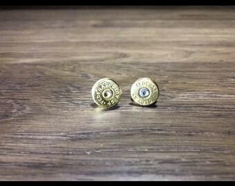 45 caliber stud earrings