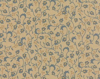 Sticks & Stones - Vines Berries in Blue by Laundry Basket Quilts for Moda Fabrics - Last Half Yard