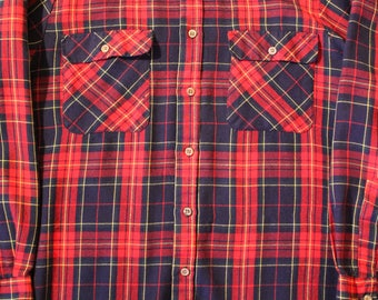 Vintage 80's Flannel Shirt | Size Medium | Outdoor Exchange | 100% Acrylic