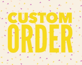 ONE Custom mini canvas banner -handstamped