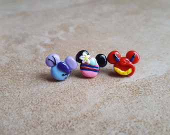 Mulan, Cri-Kee, and Mushu Mickey Mouse Inspired Earrings