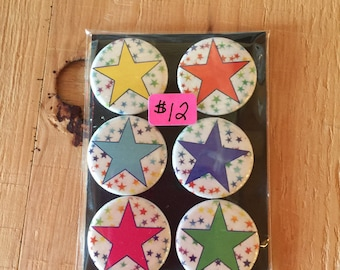 "1.25"" Button Magnets - Stars"