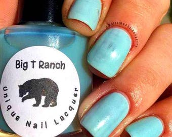 Solar Color Changing Clear - Sky Blue Nail Polish - FREE U.S. SHIPPING - Full Size 15ml Bottle - Blueberry Sorbet