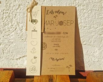 Wedding Invitations. Personalized invitations. Original Wedding Invitations. Nice invitations.