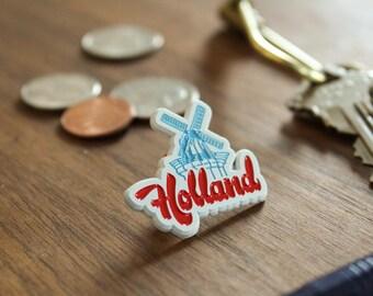 Holland Enamel Pin - Dutch Windmill - Holland Michigan