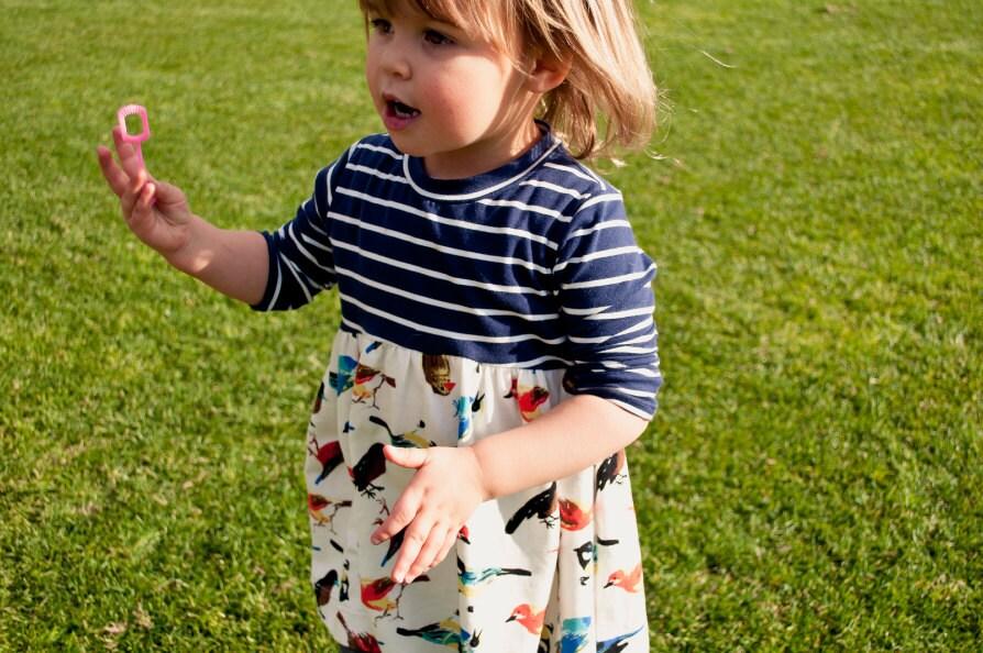 Girls\' Knit Fabric Dress Pattern - Horizon Dress in size toddler to ...