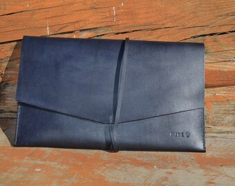 Customized Tablet Envelope Case, Leather iPad Cover/Sleeve, Personalized Leather Clutch for iPad, Tablet