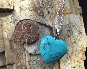 Dyed Howlite Pendant Charged with Reiki