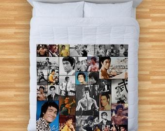 Bruce Lee Design Soft Fleece Blanket Cover Throw Over Sofa Bed Blanket