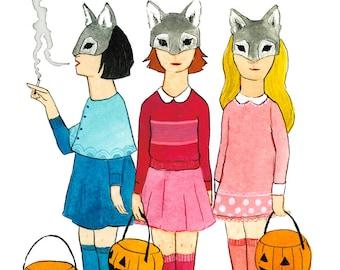 Wolves at the Door - Giclée Print