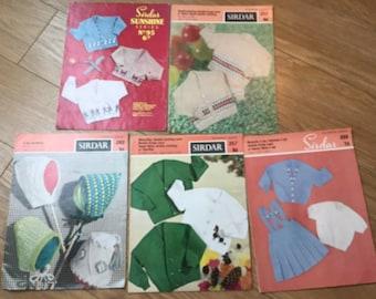Vintage babies/childrens Sirdar knitting patterns