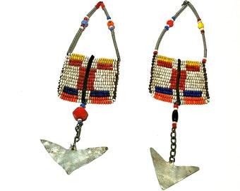 Vintage Massai Earrings Long