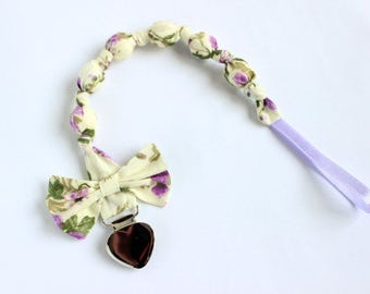 Pacifier holder, Pacifier clip, Pacifier clip girl, Dummy clip, Teething beads, Paci holder, New baby girl gift, Teething toy