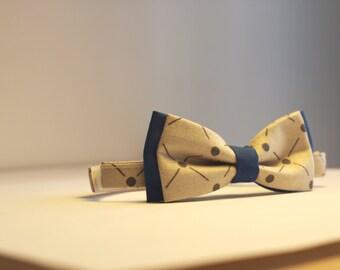 Bow Tie Vintage Grey and Blue Boy children 6 months-6 years
