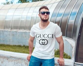 White Gucci  inspired unisex shirt designer shirt unisex designer shirt Gucci  inspired T-shirt GUCCI
