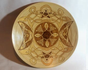 Wiccan bamboo bowl