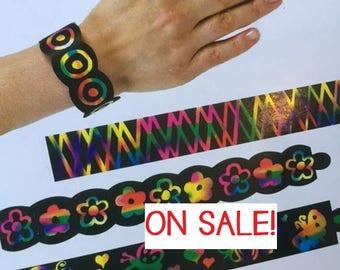 Scratch Art Bracelets PARTY FAVOUR, party supplies, party craft