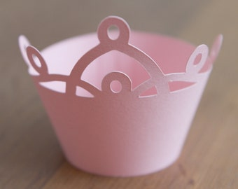 SALE!!!! Princess crown Cupcake wrappers (Set of 24)