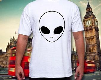 Alien T Shirt Pocket Breast Logo UFO Sci Fi Hipster Tumbrl Blogger Coco Summer