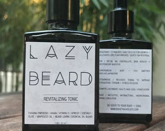 Lazy beard tonic oil