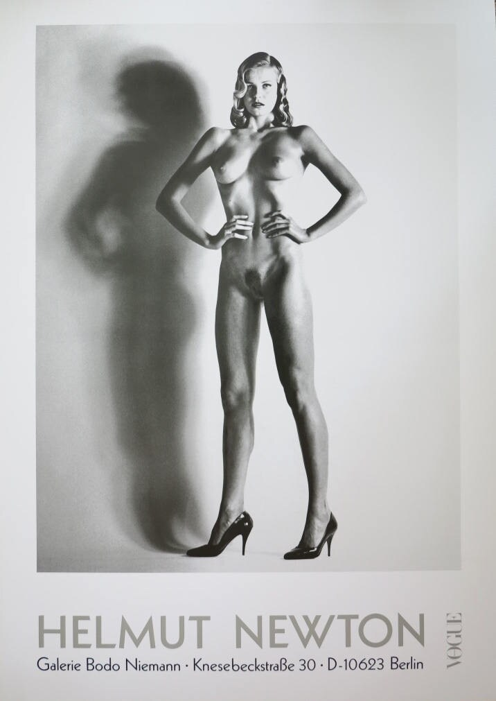 helmut newton print vogue exhibition poster nude. Black Bedroom Furniture Sets. Home Design Ideas