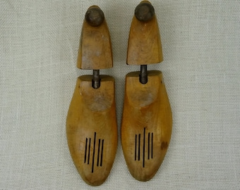 Rochester Shoe Tree Co. Wooden Shoe Keepers // Shoe Form // Vintage Home Decor // Hardwood Shoe Stay