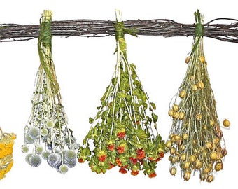 Dried Garden Herb Swag | Mixed Flower Swag | Home Decor | Wall Decor