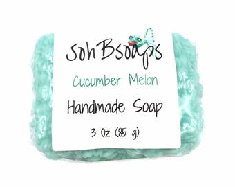 Wife easter gift etsy cucumber melon glycerin vegan soap bar mothers day gift easter gift handmade soap negle Images