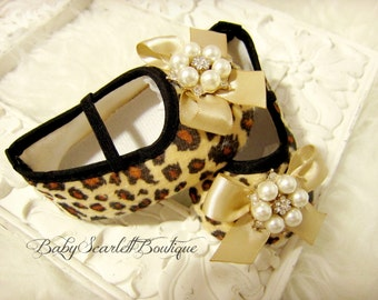 Leopard Print Baby Girl Shoes,Soft Sole Shoes