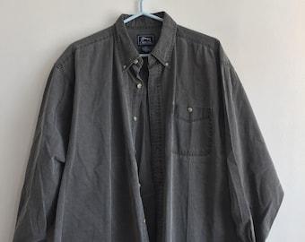 Vintage black faded denim shirt