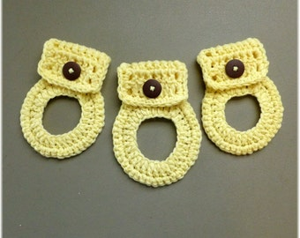 Towel Holder Set Soft Yellow Short