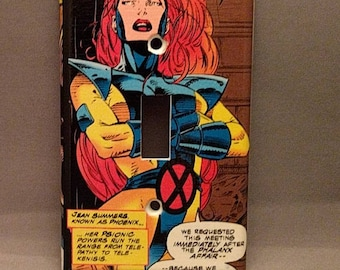 Phoenix X-Men light switch cover double toggle