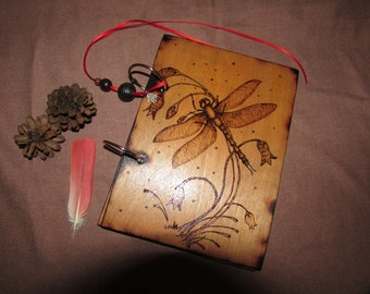 A4 - Two Ring Wood Binder - Decorated with Pyrography - Custom Hand Made - Just For You