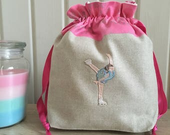 Knitting bag / knitting bags / crochet bag / project bag - Dancing on ice - blue
