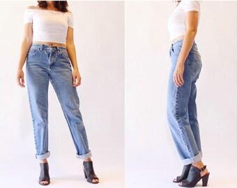 SALE Vintage Boyfriend Jeans Relaxed Fit Medium Wash Lee Jeans 80's Baggy Denim Size 28