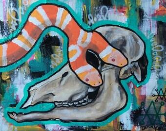 Morpheme ~ Original Multimedia Artwork on Canvas