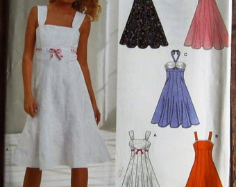 Misses Sleeveless Dress 5 Styles Sizes 8 10 12 14 16 18 New Look Pattern 6589 UNCUT