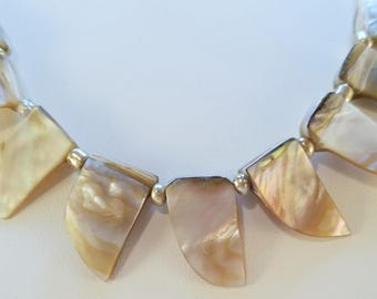 Mother of Pearl Statement Necklace & Earring set