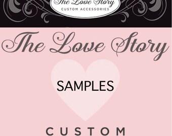 SAMPLES - Lace, Ribbon, Rosettes