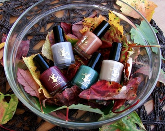 FULL SIZE Fall 2016 Blogger Collab Collection with optional scents - holographic fall custom nail polish