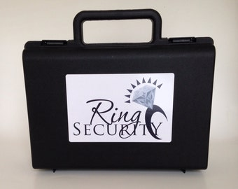 Black and white ring security briefcase -- ring bearer pillow alternative box gift