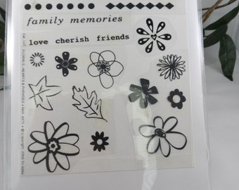 Floral Stamps -- Leaf Stamps -- Sentiments -- Variety of Flower and Leaves Stamps
