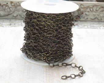 Celtic Chain in Antique Brass-Link Chain