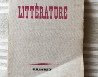 Vintage French soft cover Book Litterature