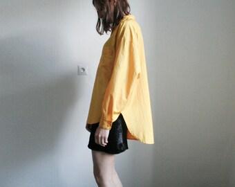 Vintage yellow oversized shirt