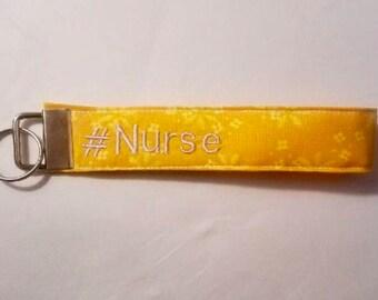 Key fob wristlet- #Nurse