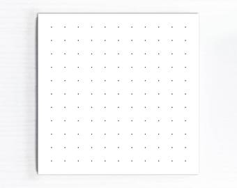 Dot Grid Notepad, Square Memo Pad, Small Desk Paper Pad, NON Sticky Notes, Dotted Daily Office Lists, Handmade Gifts Under 5 or 10