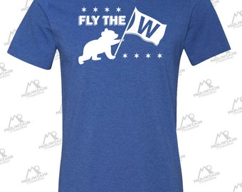 Fly The W! Chicago Cubs Royal Blue Tshirt